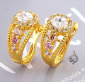 Gold plated earring cz stone