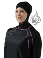 Riviera in Black Pink Islamic Swimwear for Women
