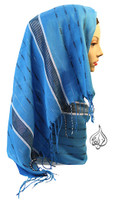 hijab scarf, long hijab wrap, fashion scarf, aqua