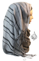 gray hijab scarf, long hijab wrap, fashion scarf, aqua