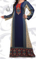 Indian Kaftan in Blue, Long Abaya