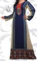 Indian Kaftan in Blue, Long Abaya