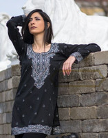 Beautiful Indian Tunic - black kurta