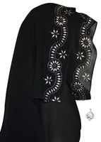 Khaleeji Shayla for Abaya with silver rhinestones