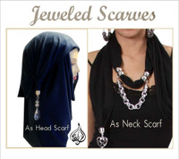 Jeweled Scarves - use as hijab or neck scarf