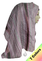 Islamic Scarf with lines, pink