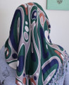 Retro scarf, muslim hijab scarves - Green