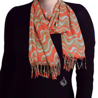 Neck Scarf, Orange Color
