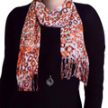hijab neck scarf, head wrap, leopard scarf