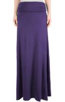 Maxi skirt eggplant - Jersey Skirt