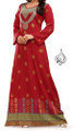 royal red dress Indian caftan