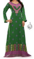 royal green dress Indian caftan