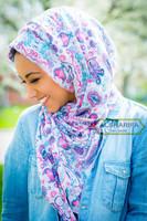hijab scarf, head wrap, paisley muslim hijab