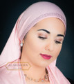 Jersey Cotton Muslim Scarf with Rhinestones