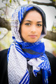 hijab scarf, head wrap, geometric art, latest fashion scarf