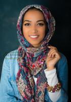 intricate Muslim hijab design