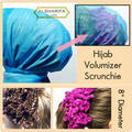 Hijab Scrunchie Volumizer | Fascinator | Hair Tie | Hair Ring