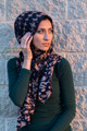 Hound's Tooth Check Design Hijab