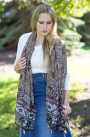 Aztec Inspired Woman Scarf, Hijab, Muslim Scarves