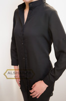 Black Dress Blouse, Black Top, pair with Jeans