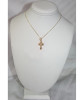 "14KYG Greek Byzantine Style Baptismal Cross- 7/8"""