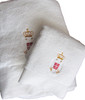 Embroidered Serbian Crest Premium Towel Hostess Gift Set