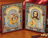 Matched Set Gold Foil Icon Diptych- 9 1/2 x 5 1/2""