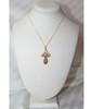 14KYG St. Olga Style Cross- Extra Large (Inscribed)