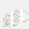 Personalized Coffee Mug in Gold or Silver Metallic Foil- IN ANY LANGUAGE