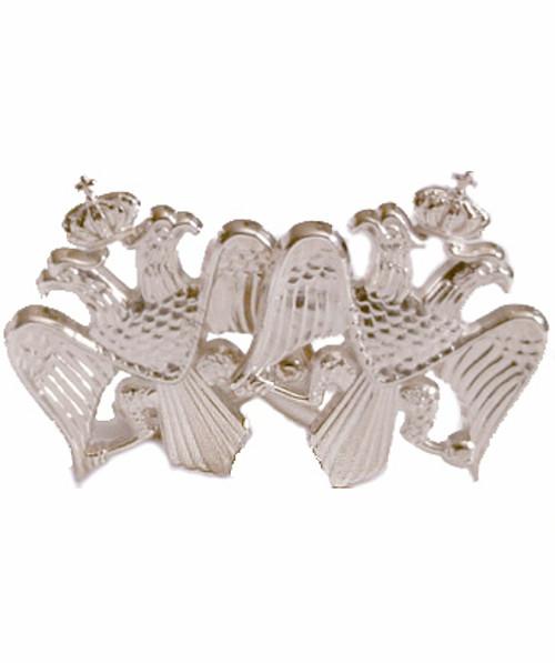 Sterling Silver Double-Headed Eagle Cufflink Set