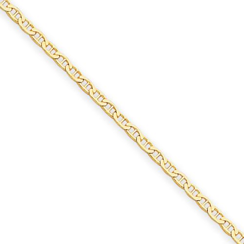 14KYG 1.5mm Anchor Link Chain- Various Lengths