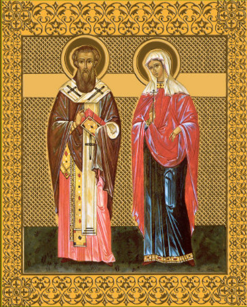 Ss. Cyprian and Justina Icon