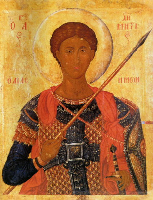 St. Demetrios Icon- Icon X