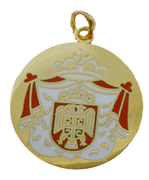 Serbian Crest Round Pendant