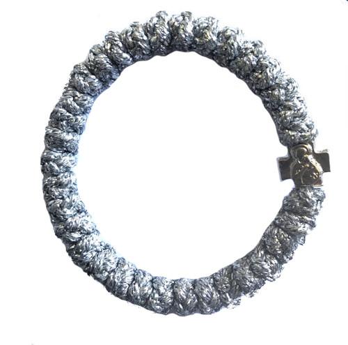 33 Knot Mt. Athos Prayer Rope (Silver Metallic)