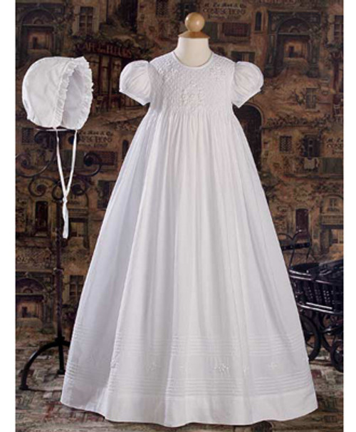 "32"" Hand Smocked Baptismal Gown"