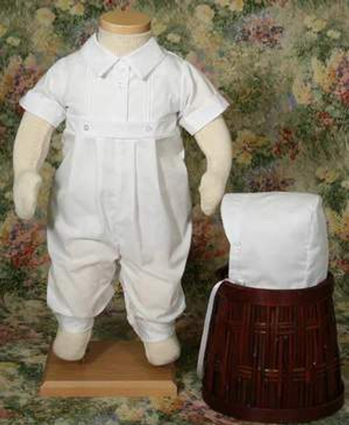 Boys Cotton-Poly Simply Elegant Romper- 6 Month Size