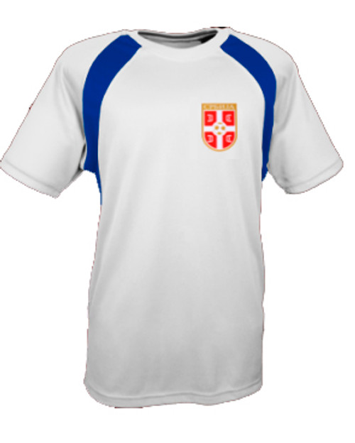 Personalized Serbian Soccer Jersey: Adult Large