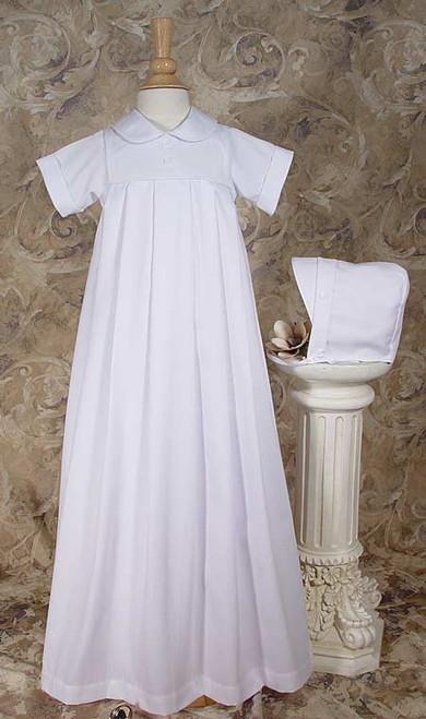 Boy's Polycotton Pique Baptismal Gown- 6 mos.