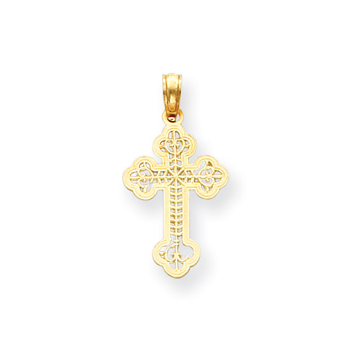 14KYG Open Work Orthodox Cross