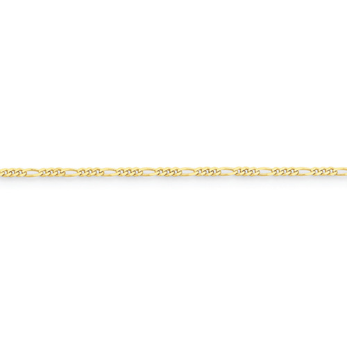 10KYG 2.2MM Figaro Chain- Various Lengths