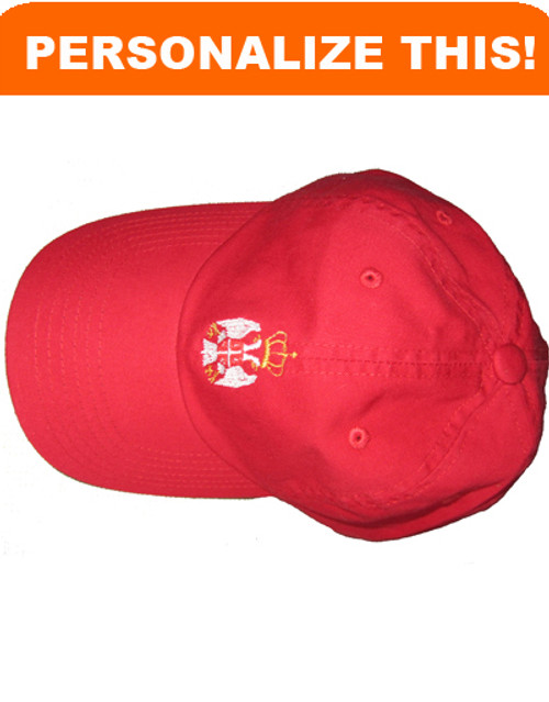 Personalized Embroidered Serbian Crest Baseball Cap- Youth Size