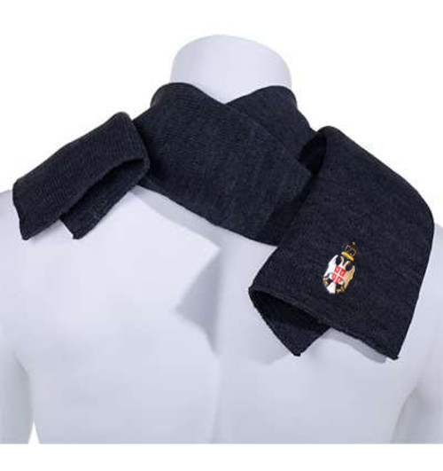 Navy Embroidered Serbian Crest Scarf