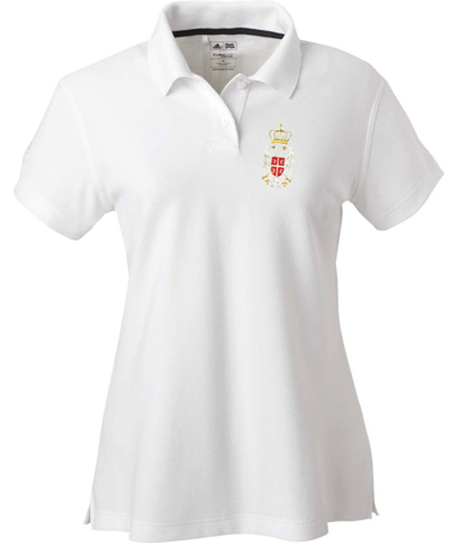 Embroidered Serbian Crest Polo Shirt- Women's MORE COLORS!