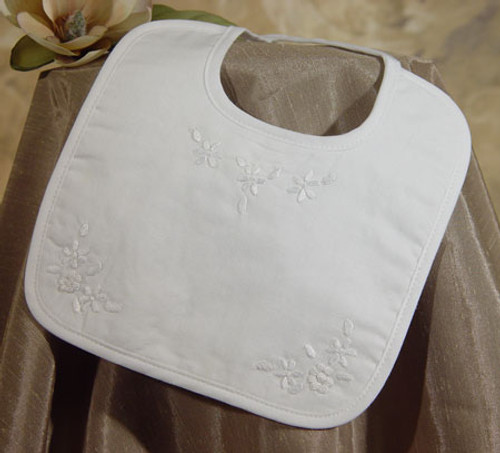Hand Embroidered Girls Cotton Bib
