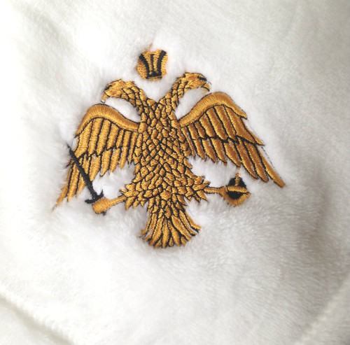 Byzantine Eagle Embroidered Microfleece Baby Blanket- MORE COLORS!