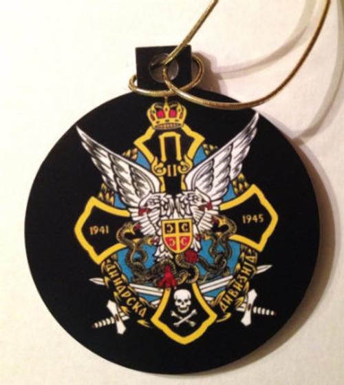 Serbian Chetnik Acrylic Christmas Ornament - OrthodoxGifts.com