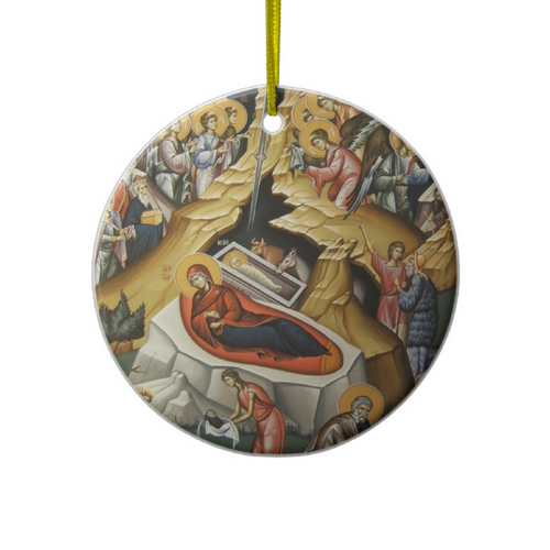 Nativity Icon Ceramic Ornament