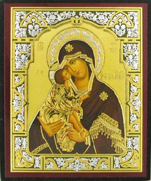 "Virgin of the Don Gold Foil Icon 3""x 2 1/2""- Set of 25"