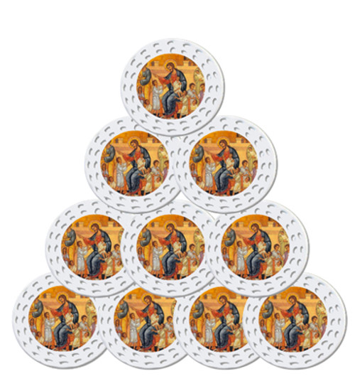 Christ Blessing the Children Icon Ornaments- Set of 10